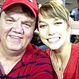"Karlie Kloss defined ""model daughter"" when she brought her dad to Major League Baseball's Home Run Derby. Source: Instagram user karliekloss"