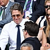 Hugh Grant and Anna Eberstein at Day 13 of Wimbledon
