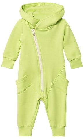 Gugguu Lime Green and White College Onesie ($89)