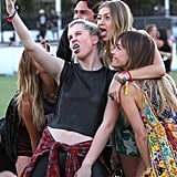 Ireland Baldwin took a cute selfie with Gigi Hadid at the 2014 festival.