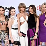 When it comes to the red carpet, there were certainly a handful of standouts. We still haven't recovered from the amount of skin Jennifer Lopez's outfit showcased, and Chrissy Teigen's sheer dress blew us away. Meanwhile, Taylor Swift's squad game was seriously strong: she walked the red carpet with a whole slew of friends by her side. Kendall Jenner was looking fierce, sure, but did you also catch her sweet words about Bruce Jenner?