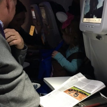 Dad Passed Out Candy During a Halloween Flight For His Kid