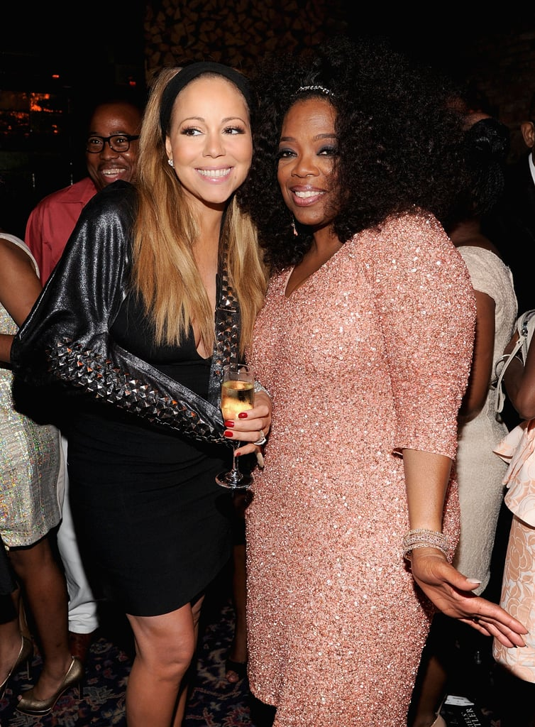 Power couple, much? Mariah Carey and Oprah Winfrey smiled for the cameras at the premiere of The Butler in New York on August 5.