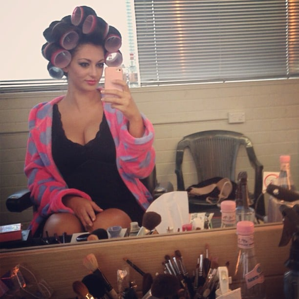 Layla Subritzky took a selfie in the makeup chair. Source: Instagram user laylasubritzky