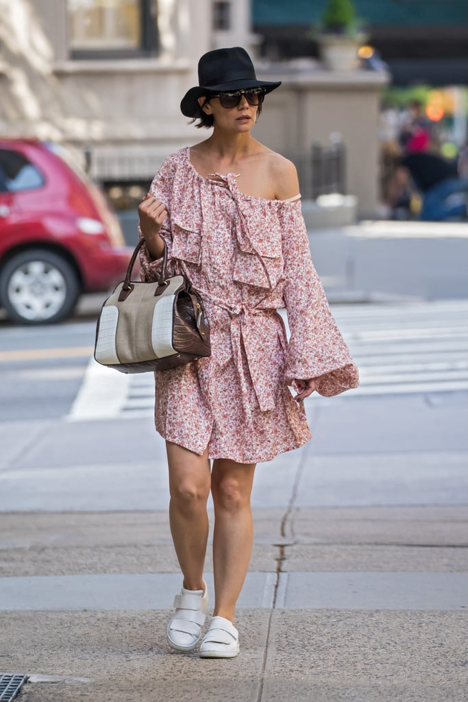 Complete Your Breezy Floral Dress With a Fedora and Sneakers