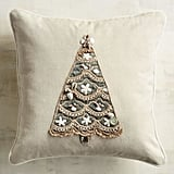 Beaded Shell Tree Pillow ($30)