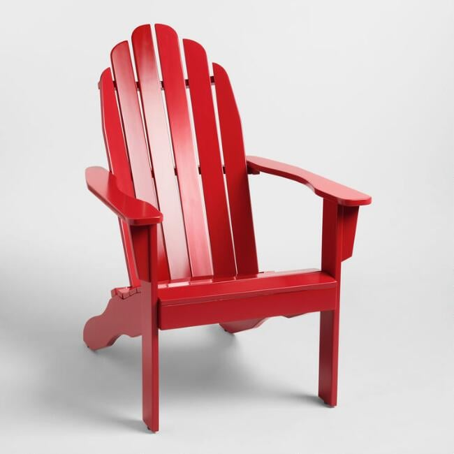 Barbados Red Adirondack Chair
