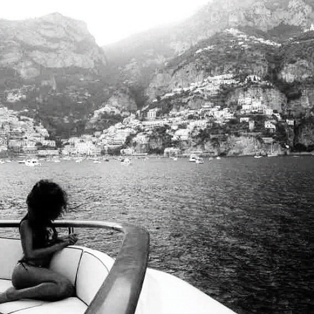Rihanna shared the view from a yacht while on vacation. Source: Instagram user badgalriri