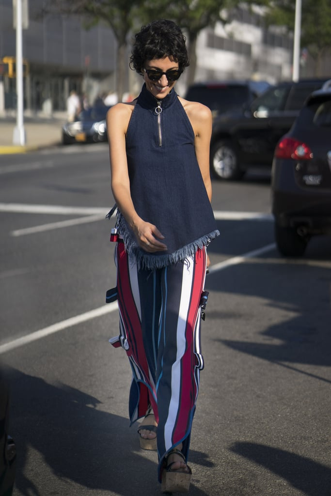Red, White, and Blue Striped Pants