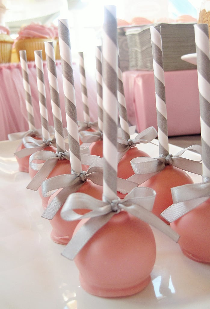 Striped Straw Cake Pop Sticks