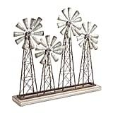 Galvanized Windmill Sculpture
