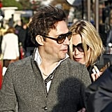 Kate Moss cuddled up to Jamie Hince.