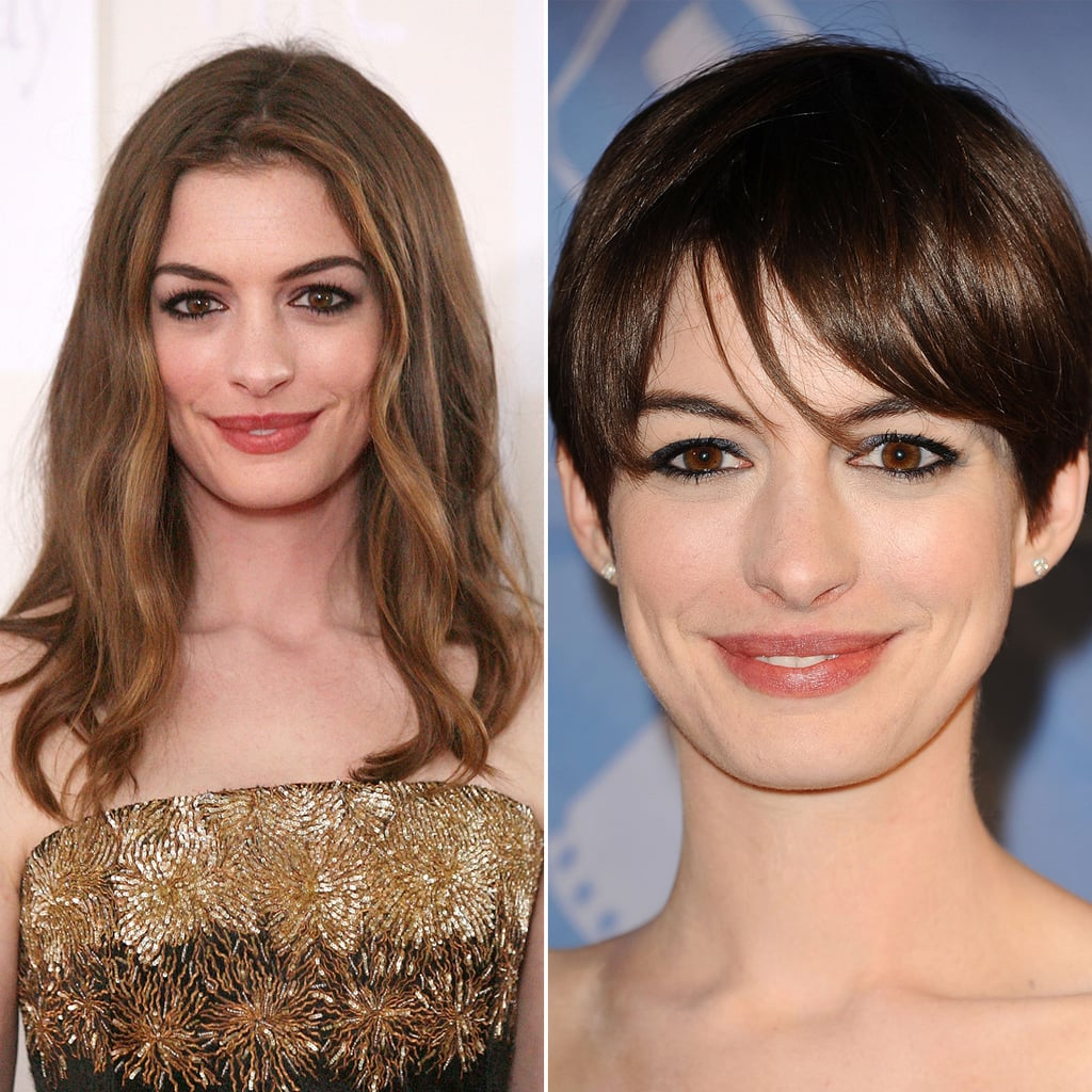 Anne Hathaway Now: Celebrities With Short And Long Hair