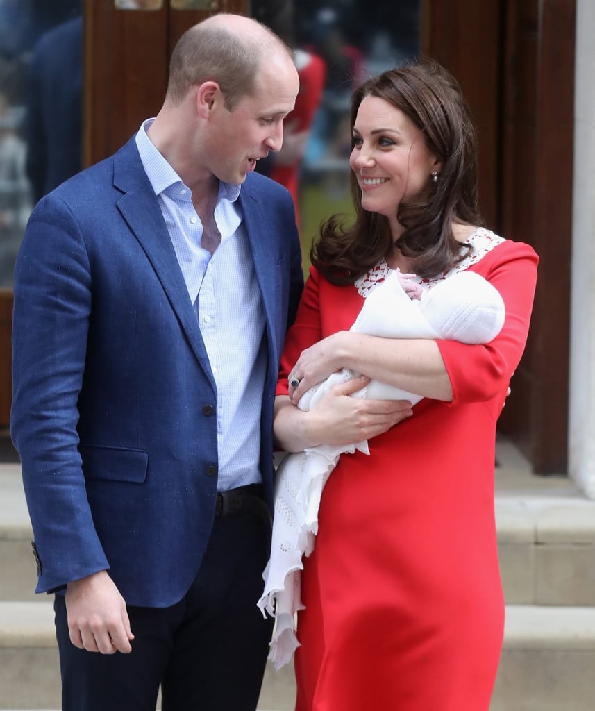 Many considered Kate's red and white dress a sweet tribute to the look Princess Diana wore when she left the same hospital with Harry decades earlier.
