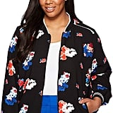 Vince Camuto Traveling Bloom Zip Front Bomber Jacket