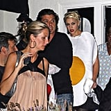 Gwen Stefani was a fried egg in 2008 at an LA party with Gavin Rossdale.