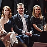 Emma Stone, Matt Damon, and Natalie Portman