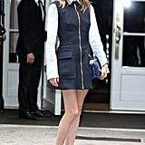 If you need more convincing that navy is in a fashion girl's color wheel, look at Olivia Palermo. She's worn the hue multiple times in her outerwear, dresses, and even accessories for Fashion Week.   Fill up your wardrobe with select navy pieces ahead!
