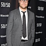 Seth Rogen unbuttoned his suit jacket at his premiere party.