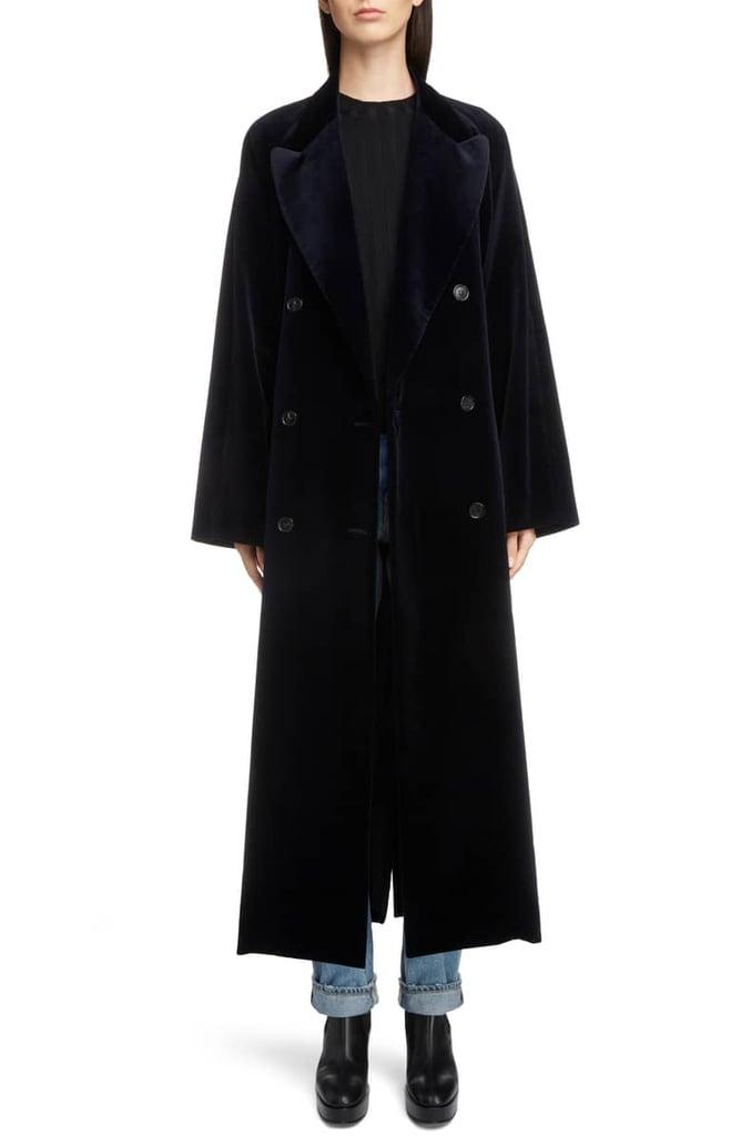 Acne Studios Belted Velvet Coat