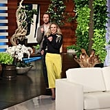 Photos of Kristen and Dax on The Ellen DeGeneres Show