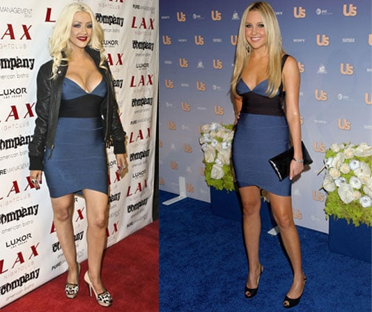 Who Wore It Better? Herve Leger Bandage Dress