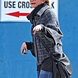 Cameron Diaz had a laugh to herself realizing how hard it is to find a taxi in NYC.