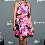 Ashley Madekwe's pink floral J. Mendel ensemble delivered mega pizzazz to the 15th annual Costume Designers Guild Awards in LA.