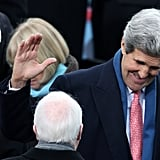 John Kerry and John McCain spoke during the event.