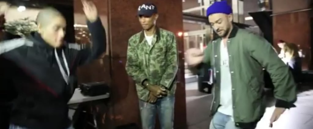 "Justin Timberlake Attempts the Sexy Dance Routine From Rihanna and N.E.R.D.'s ""Lemon"" Video"