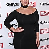Ashley Graham proved that a simple look can still be showstopping with this classic all-black outfit.