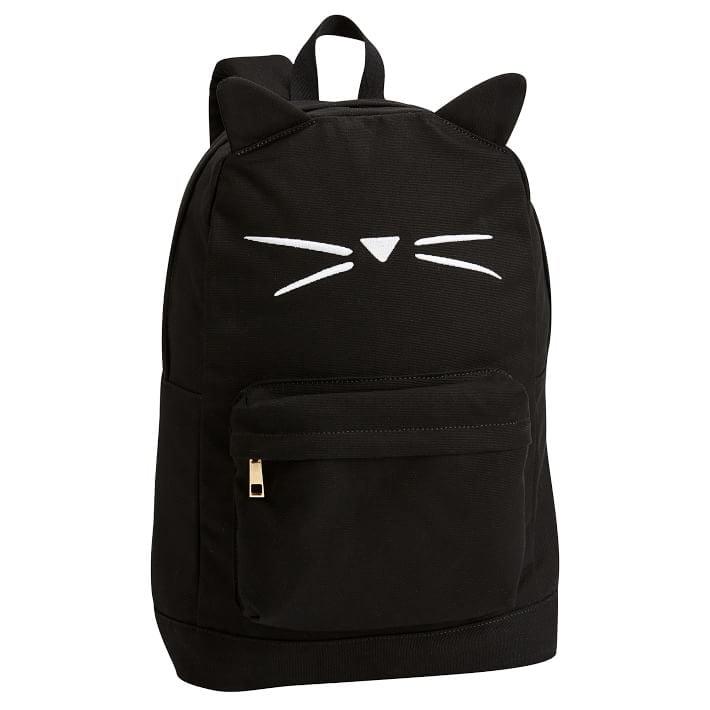The Emily & Meritt Black Cat Shape Backpack