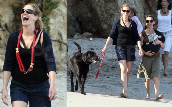 Photos of Julia Roberts on the Beach in Malibu