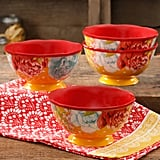 "The Pioneer Woman Blossom Jubilee 6"" Footed Bowl Set, Set of 4 ($17)"
