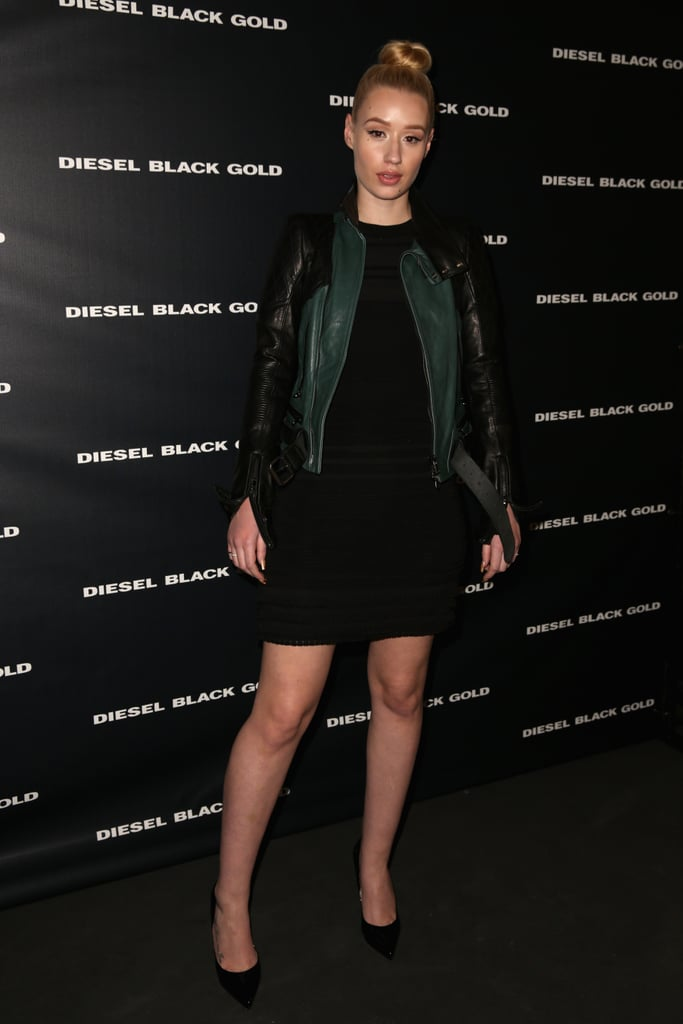 Hip-hop artist Iggy Azalea arrived in style for the Diesel Black Gold show on Tuesday.