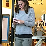 Jennifer Garner stepped out to Barneys in LA.