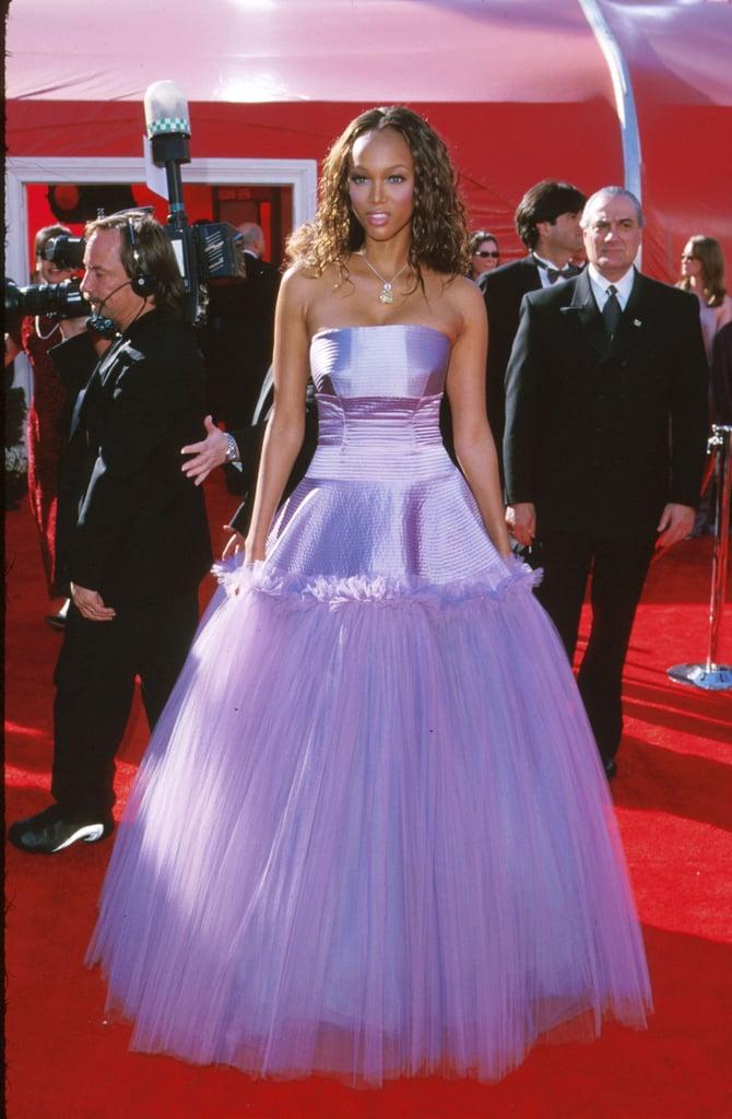 Tyra Banks 2000 Outrageous Oscar Dresses Popsugar