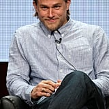 He smirked during the Sons of Anarchy panel at the 2014 TCAs in July 2014.