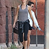 Gisele Bündchen looked ready for a workout in Boston on Friday.