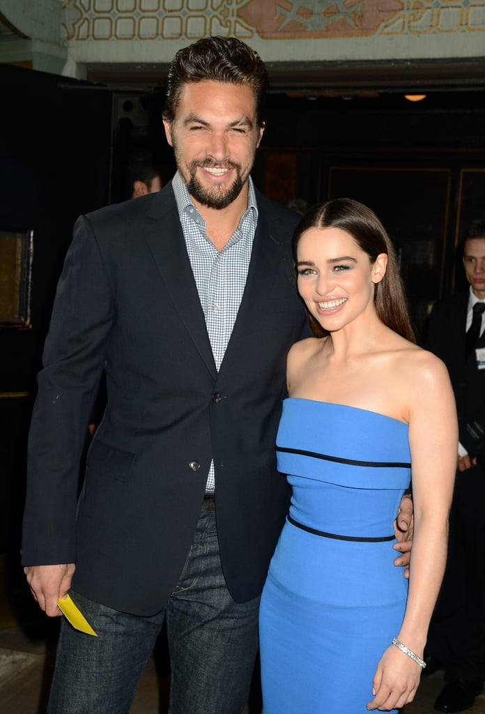 Cute Pictures of Jason Momoa and Emilia Clarke | POPSUGAR ...