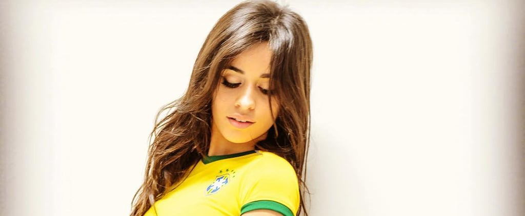 Fifth Harmony's Camila Cabello Wearing Brazil Jersey Outfit