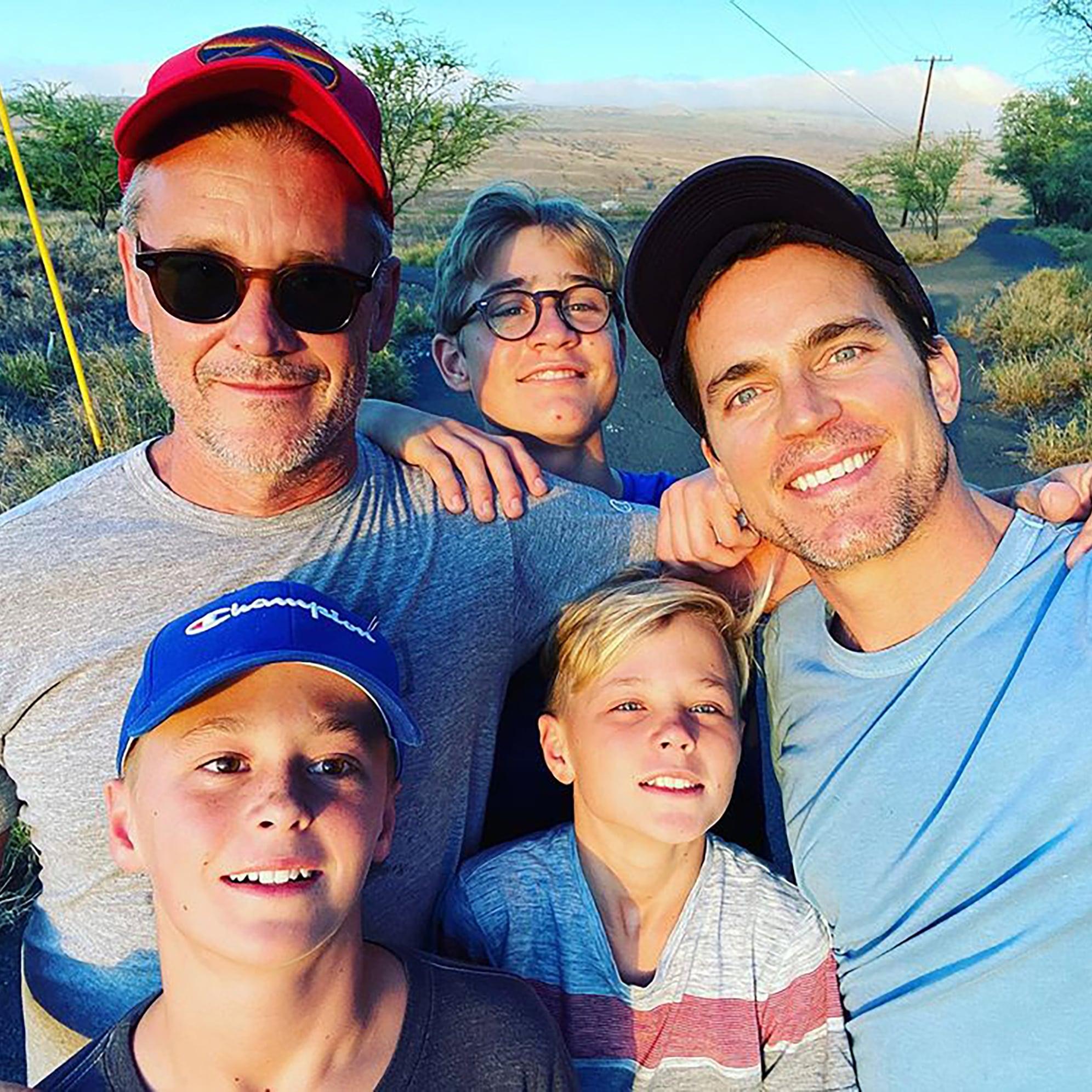 Matt Bomer e a família