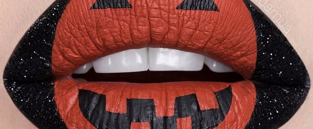 Pucker Up This Halloween With Easy, Festive Pumpkin Lip Art