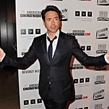 Robert Downey Jr posed for photographers.