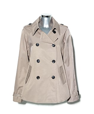 We love a cropped trench for its versatility. If you don't want to commit to a full coat, this is also a less expensive option with the same classic trench feel.  Vince Camuto Classic Cape Trench ($118)