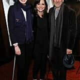 Anne Hathaway, Sally Field, and Steven Spielberg got together in NYC for a screening of Lincoln.