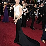 A look behind of Sandra Bullock at the Academy Awards