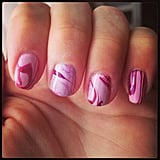 A marble design is a fun and easy way to jazz up a manicure. Source: Instagram user anamcg