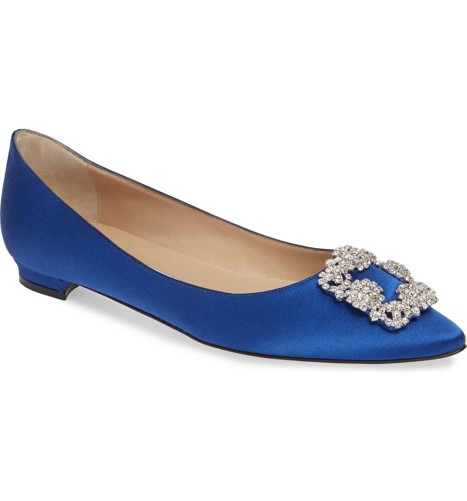 c143b5fb6fddd Manolo Blahnik Hangisi Flats | Best Wedding Flats | POPSUGAR Fashion ...