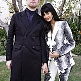 James Blake and Jameela Jamil at the 2020 Roc Nation Brunch in LA